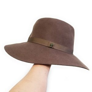 TOMMY BAHAMA Brown 100% Wool Fedora Hat 55cm